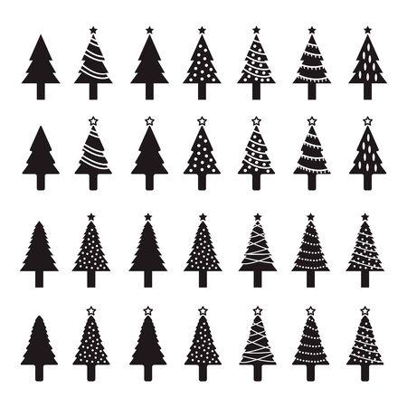 Weihnachtsbaum-Icon-Set Standard-Bild - 63130764