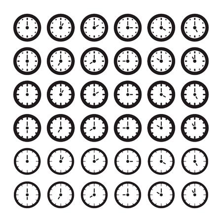 Clock zeigt jede Stunde Standard-Bild - 63130946