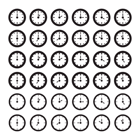 Clock showing every hour