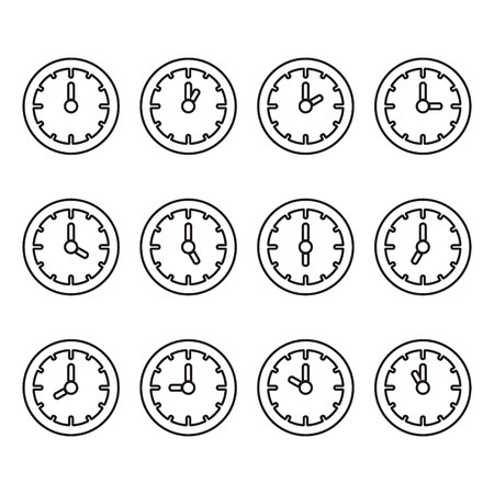 7 9: Clock showing every hour