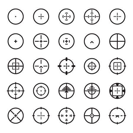Crosshair icon set