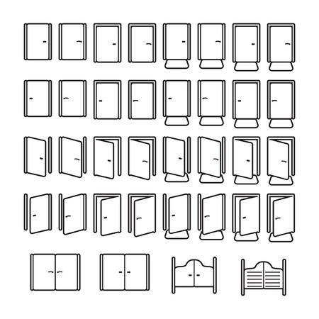 Türen Icon-Set Standard-Bild - 63130950