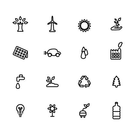 Kologie Linie icon set Standard-Bild - 63130955