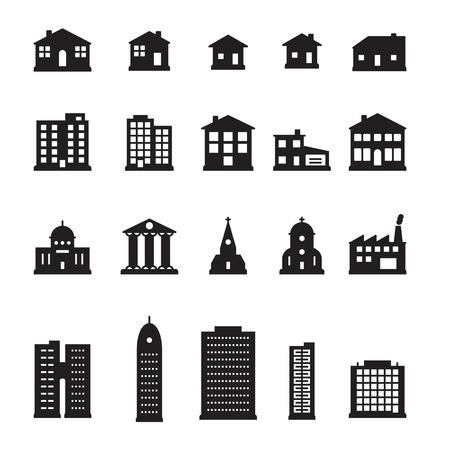 Gebäude Icon-Set Standard-Bild - 68284348
