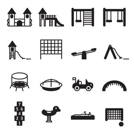 Spielplatz-Icon-Set. Vektor. Standard-Bild - 68284350