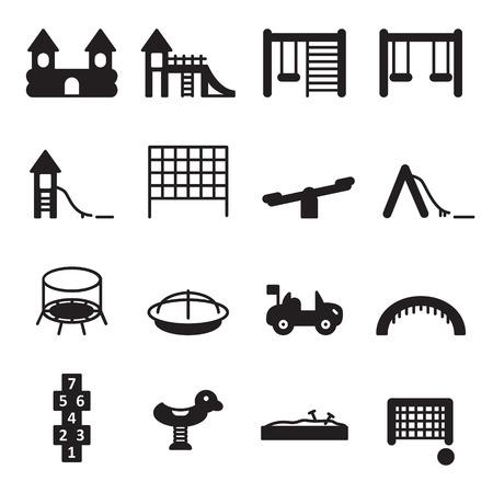 Playground icon set. Vector. Ilustração