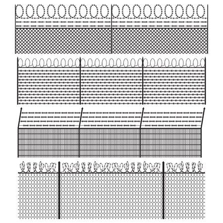 Stacheldrahtzaun. Standard-Bild - 76575799