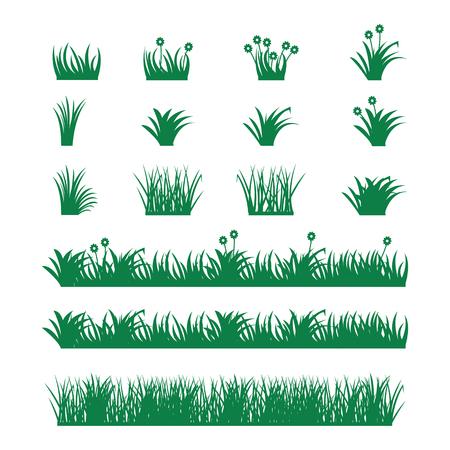 Gras Vektor-Set. Standard-Bild - 76577880