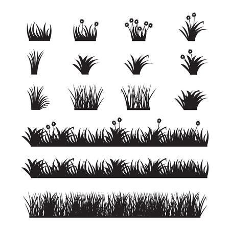 Gras Vektor-Set. Standard-Bild - 76657399