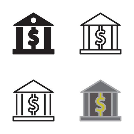 Bankikone im Vektor mit vier Veränderungen. Standard-Bild - 88641332