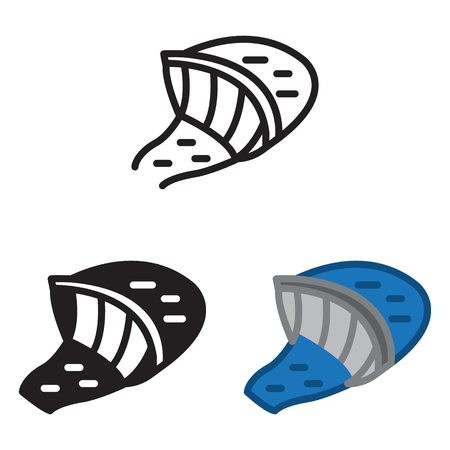 Hydroelectric water station icon in three variations vector.