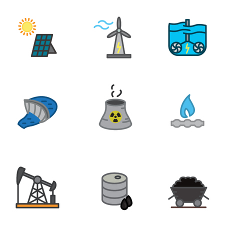 Energy icons set vector illustration. Фото со стока - 88641348