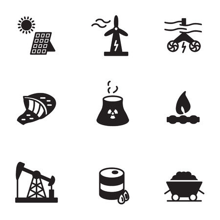 Energy icons set vector illustration. Illustration
