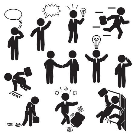 Businessman icon set. Vector. Standard-Bild - 97909587