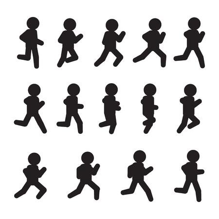 Running vector sequence. Running frames icon set. Vector.