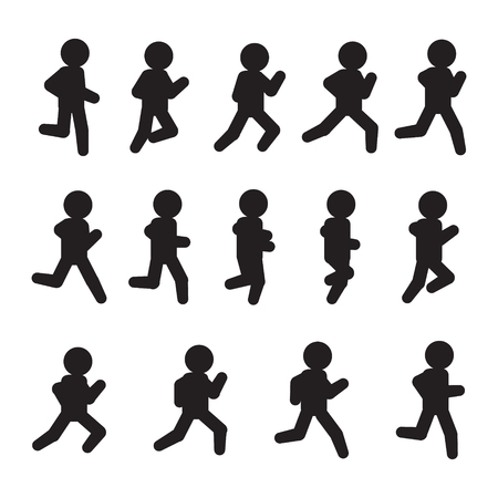 Running vector sequence. Running frames icon set. Vector. Фото со стока - 97684783