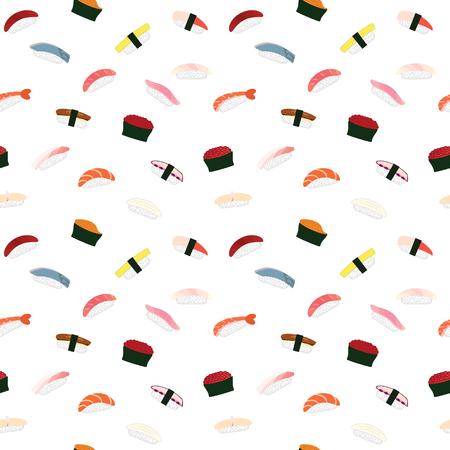 Sushi nigiri pattern. Vector.