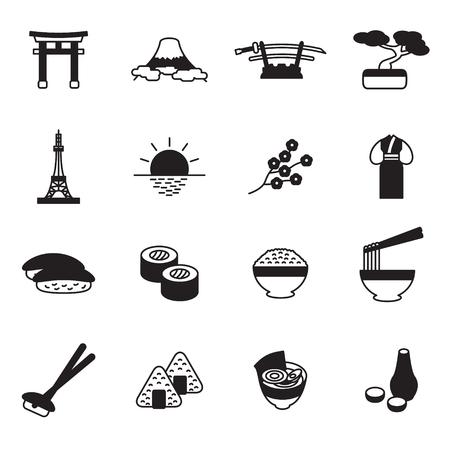 日本語のアイコン セット。日本のアイコン。ベクトル。  イラスト・ベクター素材