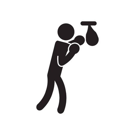 Boxing speed bag icon. Vector. Illusztráció