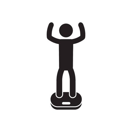 Weigh in icon, boxing, martial arts. Vector. Illustration