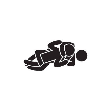 Rear naked choke icon. Person choking icon. Vector.