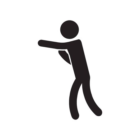 Boxing stance icon. Vector.