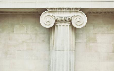 doric: Antique column in doric style closeup Stock Photo