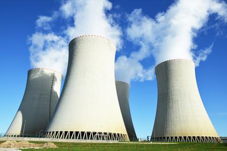 チェコ共和国、Temelin 原子力発電所 写真素材