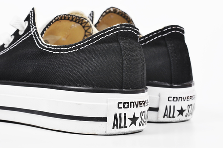 converse: CHLUMCANY, CZECH REPUBLIC, MARCH 27, 2015: Converse shoes isolated