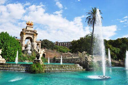 parc: BARCELONA, SPAIN, SEPTEMBER 14, 2015: Gaudis fountain in Parc de la Ciutadella, Barcelona, Spain Editorial