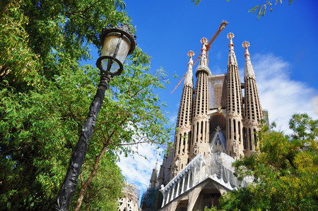 catalunia: BARCELONA, SPAIN, SEPTEMBER 16, 2015: Sagrada Familia in Barcelona Editorial