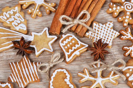 undone: Christmas gingerbread cookies Stock Photo