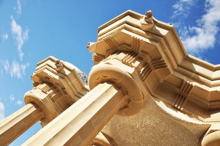 Columns in the Doric order against blue sky Reklamní fotografie