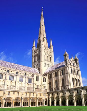 perpendicular: Norwich Cathedral Stock Photo