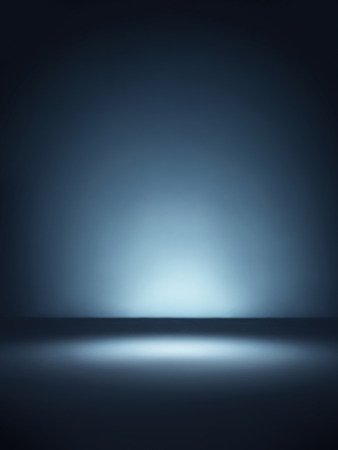 Shot of a plain blue background lit with spot lighting style vignette