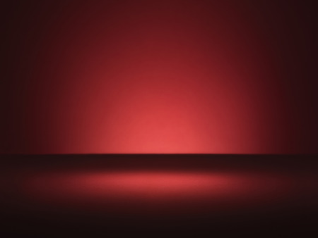 コピー スペースとビネット スタイル照明と普通の赤い背景のショット