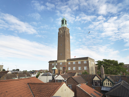 Shot of Norwich city hall clock tower Zdjęcie Seryjne