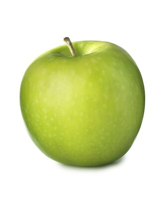 simple shot of green, granny smith apple isolated on a white background