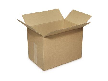 carton: Disparo de cartón abierta, vacía arco aislado en blanco