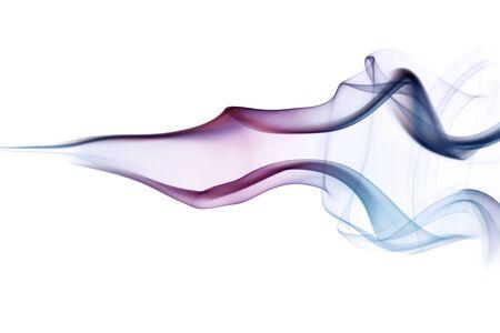 Swirling multicolored smoke