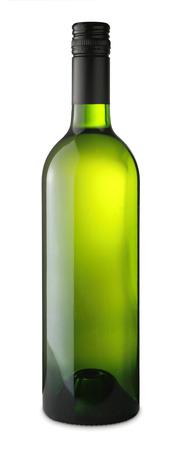 white wine bottle: Botella de vino blanco aislado en blanco Foto de archivo