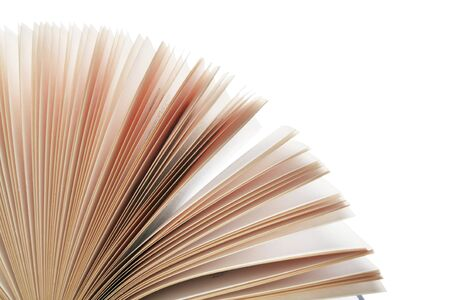 backlit: Shot of edges of pages fanned out, backlit with copy space