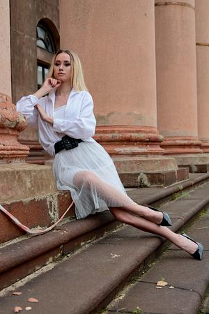 Fashion looks woman. Young woman modern portrait.