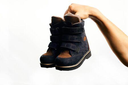 Orthopedic footwear. Winter footwear. Orthopedic baby shoes.