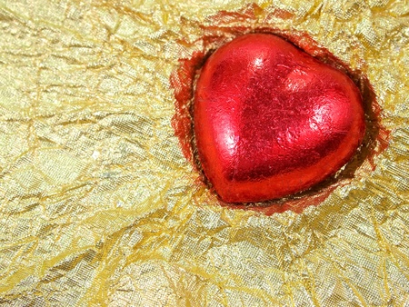 Red heart shape chocolate for Valentines Day  photo