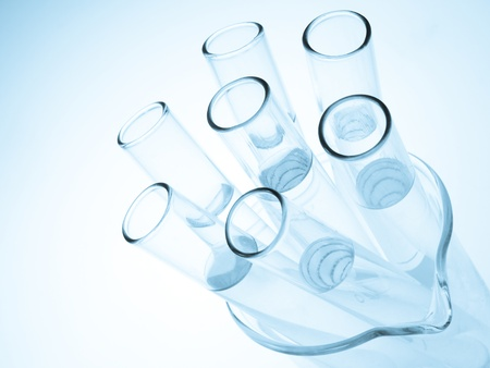 Laboratory glassware equipment, Experimental science research in laboratory  photo