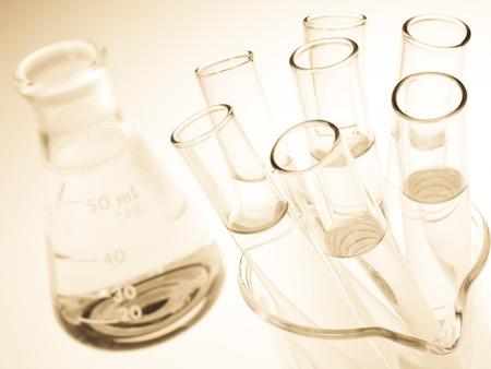 Laboratory glassware equipment, Experimental science research in laboratory  Stock Photo - 10267326