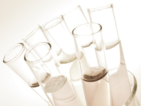 drug test: Laboratory glassware equipment, Experimental science research in laboratory