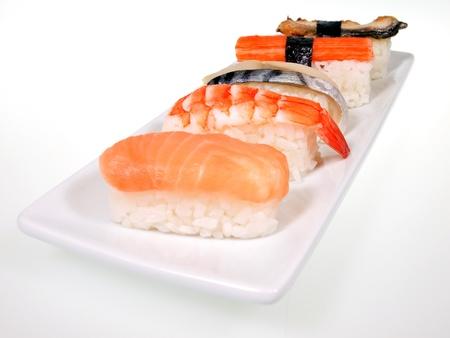 Japanese cuisine Sushi set  photo