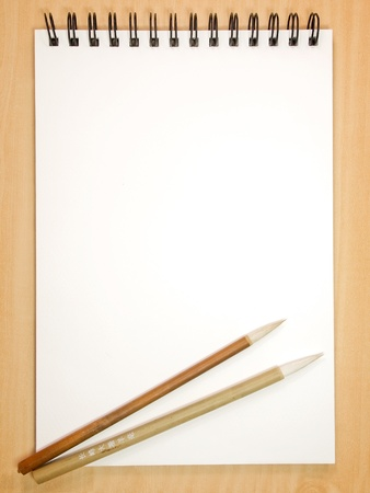 sketchbook: Painting book with chinese brushes